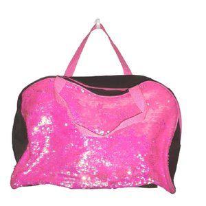Pink Sequin Weekender Bag